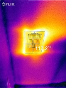thermal image of heat register