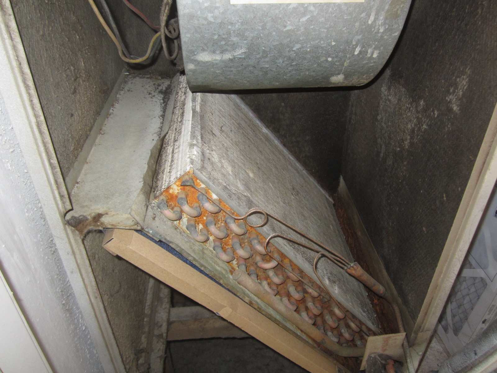 A Home Inspector Reports Rust In Evaporator Pan As A