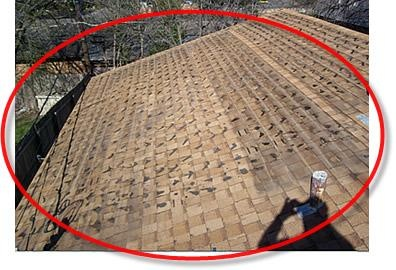 Shingles defective from the packages